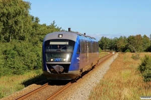 NJJ Dm 577+547 som Tog 141025 Sgb-Fh. Frederikshavnsvej - Hulsig 16.08.2016.