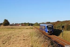 NJJ Dm 573+543 som Tog 140042 Hhs-Hj. Sønderby - Vidstrup 16.08.2016.