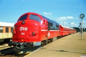 OHJ MX 101+Cle 71+Bnm 284+Bl 230 som P 323 Hk-Nks. Holbæk 02.07.1987.