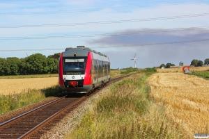 RT 2026+2126 som Tog 191057 Hk-Nks. Km 14,4 Hk (Gislinge-Svinninge) 07.08.2013.