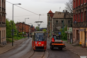 Tramwaje Śląskie 374. Chropaczów 24.04.2019 kl. 06.36.