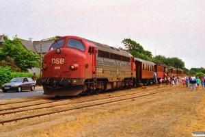 DSB MY 1105+HHJ C 25+FFJ C 72+HTJ C 24+OMB C 16+KS C 3+OKMJ A 10 som Rangertræk Md-Sb. Strib 04.07.1992.