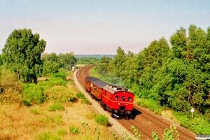 VNJ 11+TKVJ C 21+KS C 3 som PX 8166 Rd-Vj. Stevnstrup 12.08.1995.