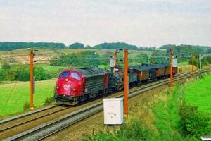 DSB MY 1156+F 694+D 857+TKVJ C 21+HBS H 26+OKMJ A 10+OMB C 16+PB 11245 som MX 8132 Ar-Lk. Lunderskov 27.09.1997.