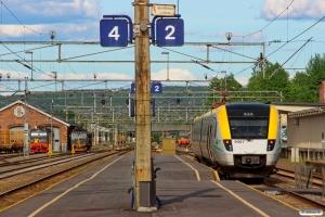 HCTOR 161.104, CN El14.2186, HCTOR 941.001 og TKAB X52 9067 som Pt 1075. Kongsvinger 10.06.2014.