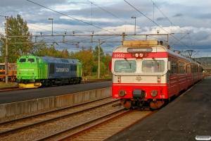 BS MZ 1461 og NSB BM 69082+B 69882+BS 69682 som Pt 1055. Kongsvinger 16.09.2010.