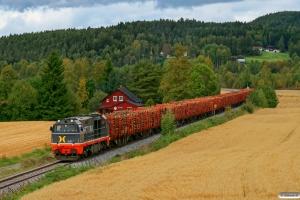 HCTOR 941.001+14 læssede kævlevogne. Kirkenær - Kongsvinger 17.09.2010.