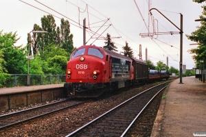 DSB MX 1019 med G 9872 Kk-Gb. Fuglebakken 01.07.1989.