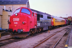 DSB MX 1035+60 86 99-44 100-2+MX 1038. Odense 04.07.1989.