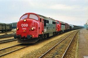 DSB MX 1043+MY 1110 med G 7252 Pa-Ng. Odense 23.09.1989.