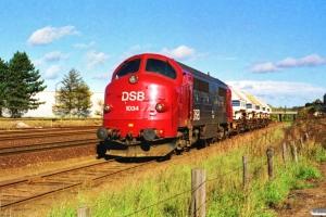 DSB MX 1034 med vogne fra Sukkerkogeriet. Odense 14.10.1989.