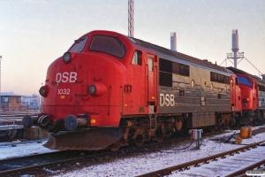 DSB MX 1032. Århus 16.12.1989.