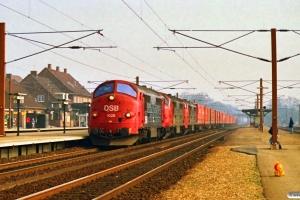 DSB MX 1028+MX 1012+MX 1036 med G 43765 Kk-Rfø. Ringsted 17.03.1990.