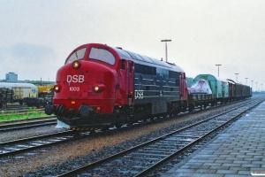 DSB MX 1003 med G 7358 Sdb-Pa. Padborg 27.06.1990.