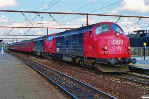 DSB MX 1012+MX 1013 med P 5161 Kh-Næ. Roskilde 02.07.1990.