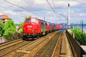 DSB MX 1012+MX 1027+MX 1005 med G 40721 Kk-Rfø. Nørrebro 07.07.1990.