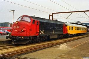 DSB MX 1006+60 86 99-44 100-2 som M 8007 Ng-Od. Odense 12.03.1991.