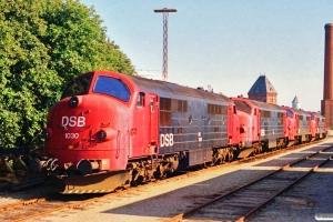 DSB MX 1030+MX 1042+MX 1037+MX 1035 hensat. Korsør 06.07.1991.