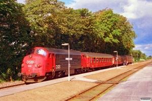 DSB MX 1025+A 001+B 158+BD 005 som P 8006 Øg-Tr. Tistrup 18.09.1993.