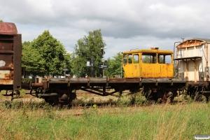 Resterne af DSB ZA 99317 læsset med førerhuset fra Trolje 75. Bramming 31.07.2015.