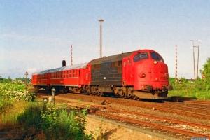 LJ M 36+P 78+P 75 som P 1008 Nsk-Nf. Nykøbing F. 22.06.1992.