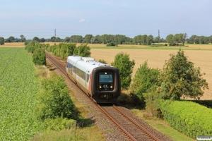RT MF 44 som Tog 225054 Nsk-Nf. Km 11,5 Nf (Grænge-Sakskøbing) 05.08.2013.