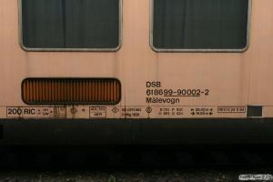 DSB Målevogn 61 86 99-90 002-2. Vojens 11.07.2009.