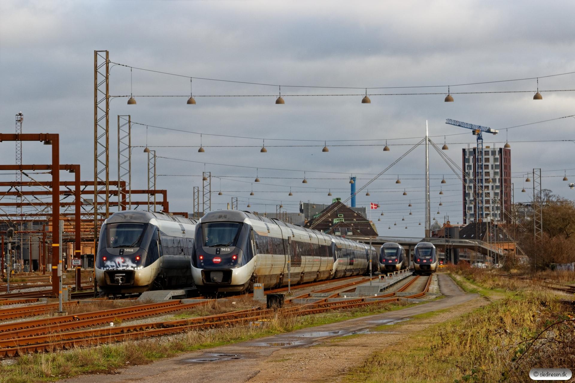 DSB MG 68, MG 33, MG 82, MG 02, MG 30 og MG 59. Odense 25.12.2018.