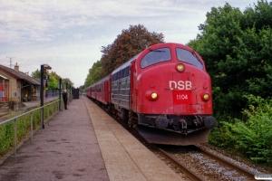 DSB MY 1105+BD 029+B 332+B 520+A 021 som PP 8437 Kh-Ge. Havdrup 16.09.2000.