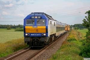NOB DE 2700-12 med NOB 80516. Niebüll - Lehnshallig 26.06.2009.