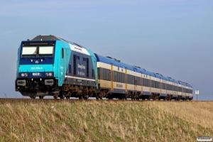 NOB 245 204-3 med NOB 81725. Morsum - Klanxbüll 26.03.2016.