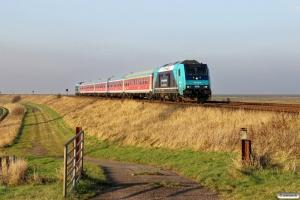 NOB 245 207-6+5 vogne+245 203-5 som NOB 81723. Morsum - Klanxbüll 13.11.2016.