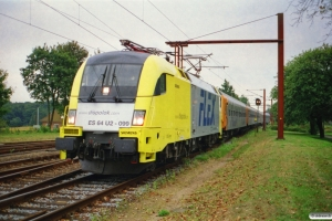 NNVG ES 64 U2-099+Bo+Bo+Bo+AR+ABv som DFR 84130 Hamburg Hbf-Pa. Padborg 21.08.2003.