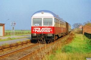 NVAG T 3+DB Gos-uv+ABm som NVAG 13. Dagebüll-Kirche 13.10.1990.