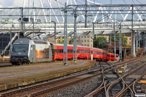 NSB El18.2249 med materiel til Pt 63 (Oslo S-Bergen). Oslo S 03.09.2015.