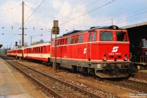 ÖBB 2143 031-9 med E 755. Wiener Neustadt 13.04.1991.