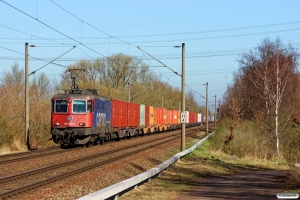 SBBC Re 421 381-5. Hamburg-Moorburg 20.03.2014.