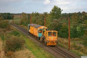 ENT Trolje 222+RSEJ 323 289-9+40 86 951 3 200-6+40 86 951 3 201-4+Db-q 60 63 99-29 153-7 som BM 238537 Gw-Rq. Km 54,4 Fa (Sommersted-Vojens) 07.10.2012.