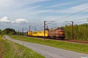 NEG MY 1148+RSEJ målevogn 001+002+Slps+MY 1159 som EE 6626 Ar-Kh. Km 195,4 Kh (Ejby-Nørre Åby) 26.05.2020.