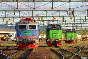 GC Rc1 1007, Td 414 og Td 365. Borlänge 11.06.2013.