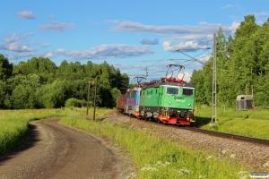 GC Rc4 1189+Rc4 1186 med GT 9165. Ornäs - Borlänge 11.06.2013.