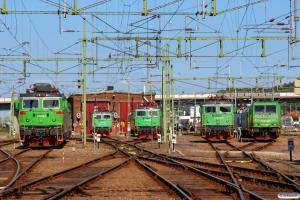 GC Rd2 1028, Rc4 1284, Rc4 1298, Rc4 1273 og Re 1436. Sävenäs Lokstation 08.06.2014.