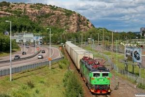 GC Rd2 1073+Rd2 1090 med GT 9036. Göteborg Kville - Göteborg Skandiahamnen 03.06.2012.