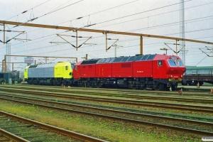 Siemens DE 2650-04 (ex. NSB Di6.664)+ME 26-07 (ex. NSB Di6.667). Padborg 19.04.2000.