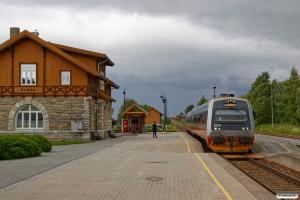 NSB BS 9258+BM 9208 som Pt 440 (Steinkjer-Lundamo). Skogn 12.06.2017.