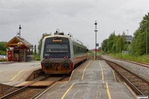 NSB BM 9207+BS 9257 som Pt 439 (Lundamo-Steinkjer). Skogn 12.06.2017.