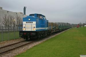 SLG V 100-SP-001+tomme svellevogne. Fredericia 04.04.2009.