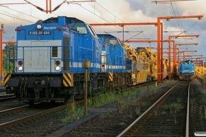 SLG V 100-SP-004+SLG V 100-SP-006+SLG ballastrensetog som DGS 83505 og SLG G 1206-SP-021+SLG ballastrensetog som DGS 84559. Padborg 18.07.2009.