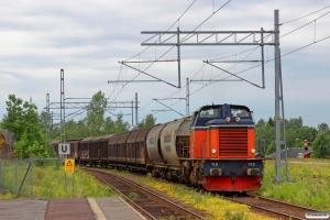 TÅGAB T43 112 (ex. T43 234) med Spärrfärd. Storfors 11.06.2014.