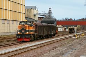 TÅGAB T43 107 (ex. T43 253). Filipstad 16.04.2009.